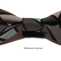 Kitten Bow Tie - Blue, Gray, Geometric - Pet Accessories, Puppy Bow, Collar Accessory, Bow Tie for Cats, Bowties, Geeky, Hipster, Cute