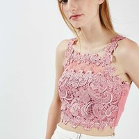 Beautiful Lace Crop Top - Tops - Clothing