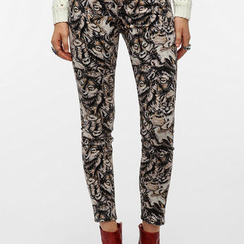 BDG Twig Mid-Rise Jean - Wolf Print