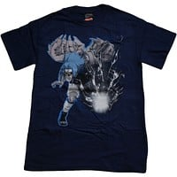 Authentic deal Naruto Sasuke Flapping One Thousand Birds Chidori Navy Men's T-Shirt Official