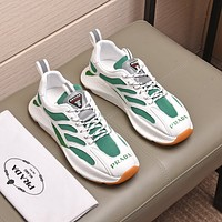 prada men fashion boots fashionable casual leather breathable sneakers running shoes 73