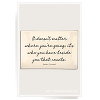 It Doesn't Matter Where You're Going Decoupage Glass Tray