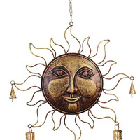 Sunface Metal Large Wind Chimes With Bells