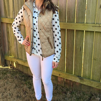 Quilted Puffer Vest - 5 Colors