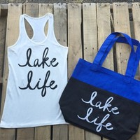 lake life tank with tote