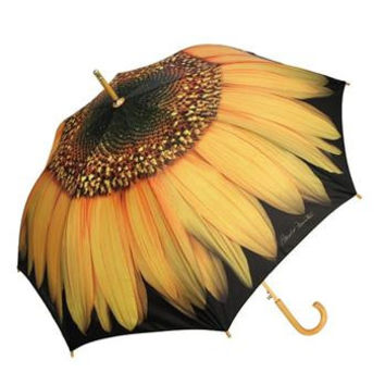 Sunflower Cane Umbrella Auto Open