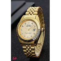 """ROLEX"" Popular Lover Luxury Diamond Quartz Watch Casual Wristwatch Golden I-YY-ZT"