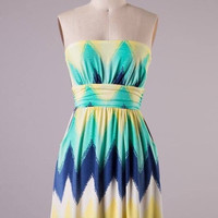 Chevron Yellow Dress