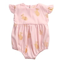 Baby Girls Bodysuit Clothing Short Sleeve Cute Animals Pink Color New Baby Girl Clothes New