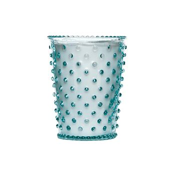 No. 34 Blue Agave Hobnail Glass Candle | Simpatico