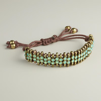 Pacific Opal Rhinestone Friendship Bracelet - World Market