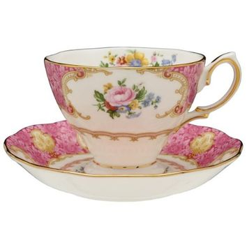 Royal Albert Lady Carlyle Teacup & Saucer Boxed 6.85-ounces