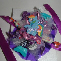 Candy Bouquet WRIST CORSAGE for a Girl ~ My Little Pony * Monster High * Ever After High * Hello Kitty ~ Ribbon Tie Wristlet for any size