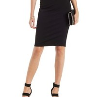 Black High-Waisted Bodycon Pencil Skirt by Charlotte Russe
