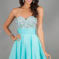 Short Strapless Homecoming Dress by Alyce Paris