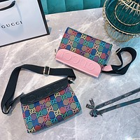 GUCCI new simple retro wild shoulder bag crossbody bag