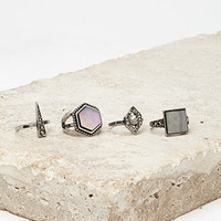 Faux Mother-of-Pearl Ring Set