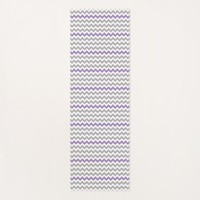 Lavender Gray White Chevron Yoga Mat