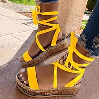 2021 new thick-soled strappy sandals plus size women's shoes