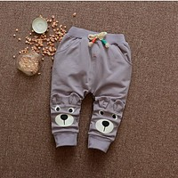 2017 spring new boy and girl baby autumn pants + free gift