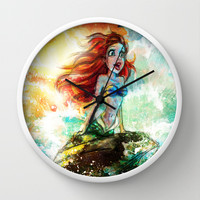 ~~ Someday I'll be part of your wooooorld~~  Wall Clock by Emiliano Morciano (Ateyo)