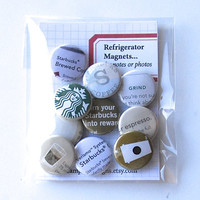 STARBUCKS VARIETY PACK 3 - Refrigerator Magnets Flair Badges or Buttons