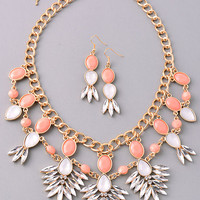 Happiness Echoes Necklace: Peach