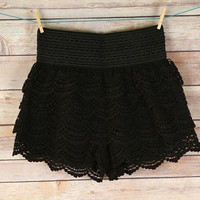 Cotton Crochet Lace Shorts
