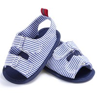 Striped Baby Shoes Summer Infant Toddler Kids First Walker Soft Sole Canvas Shoes born Anti Slip Sneakers