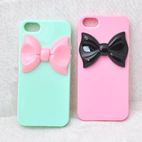 Lovey Resin Bowknot iPhone case for iPhone 4, 4s, 5