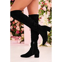 Missed Your Chance Thigh High Boots (Black)