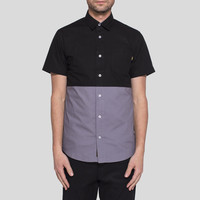 Benny Gold Retreat 2 Tone S/S Button Down Charcoal