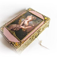 Large Jewelry Box Marie Antoinette Large Mirror Box Makeup Storage Gift For Her Gift for Mom Le Boudoir Marie Antoinette Le Mademoiselle Box