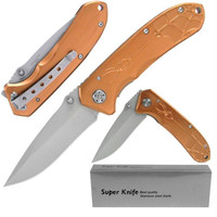 Whetstone  Deluxe Bronze Spider Stainless Steel Locking Fold