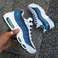 Fashion Online Nike Air Max Sneakers Running Sports Shoes White-blue H-csxy