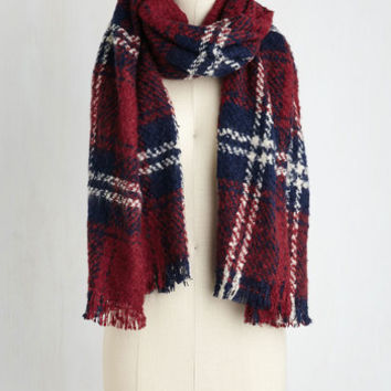 Dusk at the Drive-In Scarf in Vermillion by ModCloth