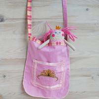 Princess Doll Gift for her,Handmade Rag Doll and a Carry on Bag,Stuffed Doll for Girl,Birthday Presents For grandoghter,Princess Soft Doll
