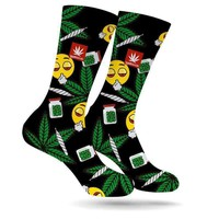 STONERDAYS EMOJI WEED SOCKS