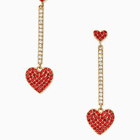 yours truly pave heart linear earrings | Kate Spade New York
