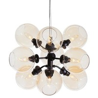 9-Light Atom Pendant, Champagne