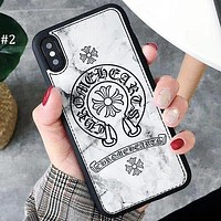 Chrome Hearts Tide brand marbled iphone8plus mobile phone shell drop protection sleeve #2