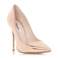 DUNE LADIES AIMEY - Pointed Toe high Heel Court Shoe - rose gold   Dune Shoes Online