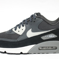 Nike Men's Air Max 90 Anthracite Gray/Black Running Shoes 537384 035