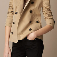 Cotton Poplin Trench Jacket