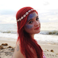 Mermaid Hipster Cowrie Shell Headband