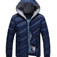 2016 new Hot Sale Men Winter Jacket Fit Fashion Warm Thick Mens Coat Men's Casual Padded Down Parkas Overcoat jaqueta masculina