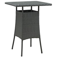 Sojourn Small Outdoor Rattan Patio Bar Table