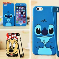 Nephy Mickey Stitch Pattern 360 Degree Full Coque Case For iPhone 6 6S 6 Plus 7 Plus Hard Cover For Fundas iPhone 7 Phone Shell