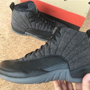 AIR JORDAN 12 (PREMIUM WOOL) Basketball Sneaker 852627-003
