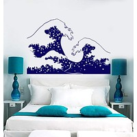 Vinyl Wall Decal Sea Wave Tsunami Marine Style Ocean Water Stickers Unique Gift (823ig)
